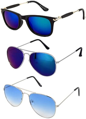 Ivy Vacker combo of 3 blue sunglasses for men