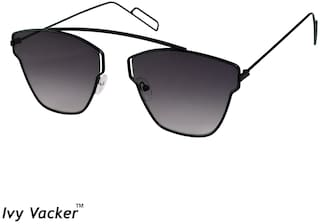 e0e48bfd584 Buy Ivy Vacker Grey Square Aviator Sunglass Online at Low Prices in ...