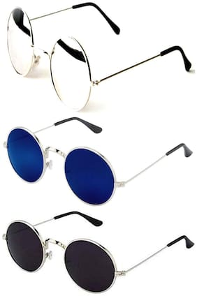 Ivy Vacker Mirrored lenses and Regular Lenses Round Sunglasses