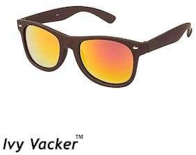 Ivy Vacker Red Mirrored Wayfarer Sunglasses for Men