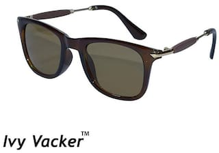 Ivy Vacker Rubber Side Brown Wayfarer Sunglass