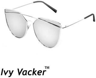 Ivy Vacker Mirrored lens Aviator Sunglasses for Men , 55 mm