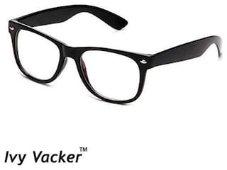 Ivy Vacker Transparent Black Wayfarer Sunglass for Men