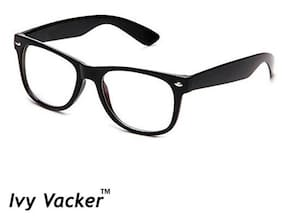 Ivy Vacker Transparent Black Wayfarer Sunglass for Men