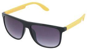 Joe Black Black Yellow Wayfarer Sunglasses
