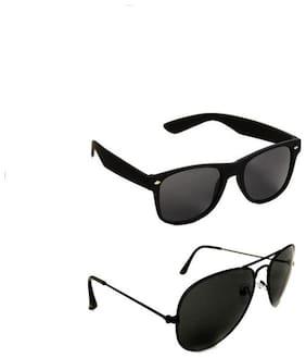 Killys Combo Pack Aviator Wayfarer Sunglasses