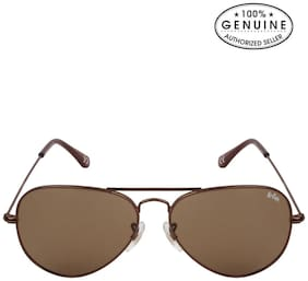Lee Cooper LC9079 FOA BRN (Size 58 mm) Brown Aviator Polarized Sunglasses