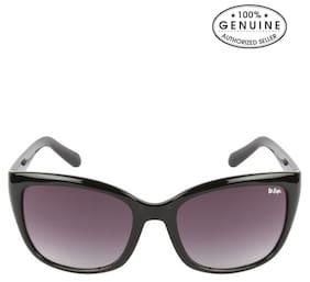 Lee Cooper LC9100SXABLK (Size 54 mm) Black Square Sunglasses