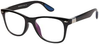LOF Unisex Anti-Reflective Transparent Rectangular Sunglasses Medium