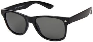 LOF Men UV Protected Grey Wayfarers Sunglasses Medium