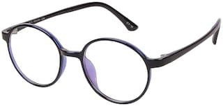 LOF Unisex Anti-Reflective Transparent Round Sunglasses Medium
