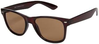 LOF Men UV Protected Brown Wayfarers Sunglasses Medium