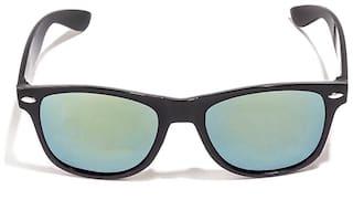 LOF Men UV Protected Green Square Sunglasses Medium