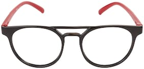 LOF Black Round Full Rim Eyeglasses for Men - 1 eyewear