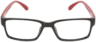 LOF Black Rectangle Full Rim Eyeglasses for Men - 1 eyewear