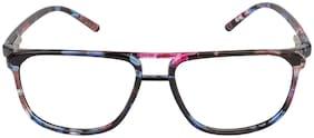 LOF Pink & Blue Square Full Rim Eyeglasses for Men - 1 eyewear
