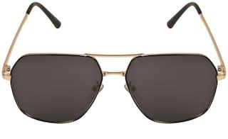 LOF Gold Polarized Full Rim Anti-Reflective Coating Sunglasses for Men