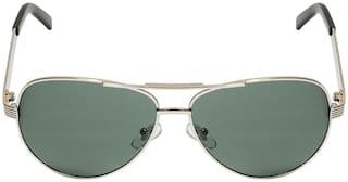 LOF Men UV Protected Grey Aviators Sunglasses Medium