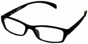 Magjons Black Rectangle Full Rim Eyeglasses for Men - 1