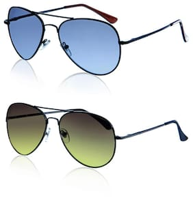 Magjons Black Aviator Medium Sunglasses