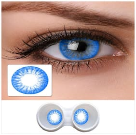 Magjons Blue Color Crazy Party Contact Lens Pair with 80ml solution