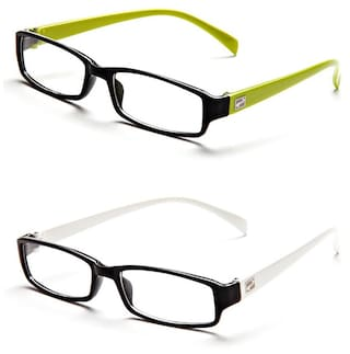 99bdc5d25d Buy Magjons Green And White Full Rim Eyeglasses Online at Low Prices ...