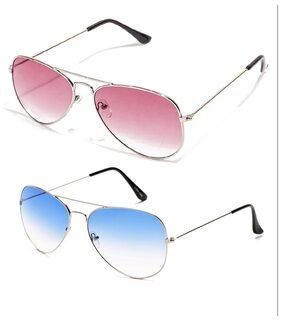 Magjons Transparent Aviator Medium Sunglasses