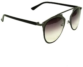 Mangal UV Protection Unisex Aviator Sunglass;GunmetalBlack-Black