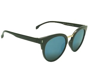 Mangal UV Protection Unisex Sunglass;GoldenBlack-Blue