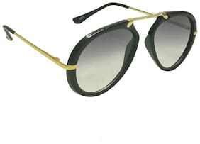 Mangal UV Protection Unisex Aviator Sunglass;BlackGolden-Black