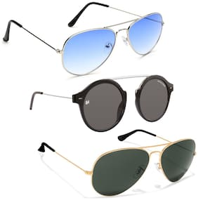 MARC JONES Unisex Aviators Sunglasses