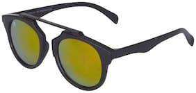 MarkQues Hope Oval Sunglasses(Black) (HOP-550108RPL)