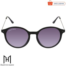 Martin Haris Classic Black & Grey Gradient Uv 400 Protection Round Stylish Sunglasses For Men & Women.