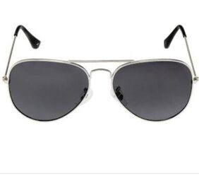 Men's Cool Grey Aviator Sunglasses With Box