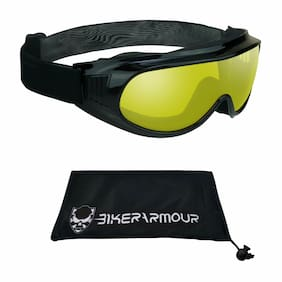 Motorcycle Goggles that Fit Over Cover Glasses | Yellow Clear Dark Grey Lens