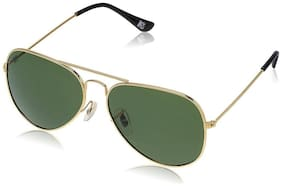MTV Golden-Green 100% UV Protected Aviator Sunglass