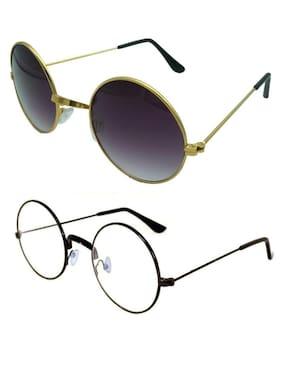 MWAYS Stylish Unisex Round combo Sunglasses