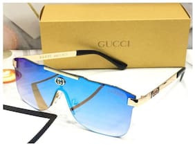 STYLE GURU Anti glare lens Aviator Sunglasses for Men , Aqua to golden square frame gucci sunglasses
