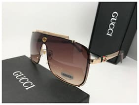 STYLE GURU Anti glare lens Aviator Sunglasses for Men , Brown to golden frame fancy trendy branded guccci sunglasses
