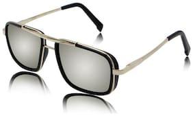 STYLE GURU Anti glare lens Rectangular Frame Sunglasses for Men