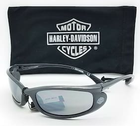 NEW Harley Davidson Men's Wrap Sunglasses HD0626S 6020C Silver Mirror AUTHENTIC