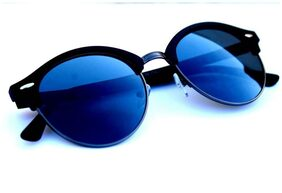 New stylish Black color And Blue Shade Round frame sunglasses for Man and women