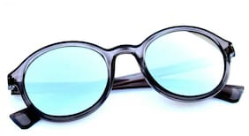 New stylish silver color And blue Shade Round frame sunglasses for Man and women