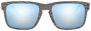 Oakley Men Polarised & UV Protected Blue Square Sunglasses Medium