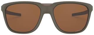 Oakley Men Polarised & UV Protected Brown Square Sunglasses Medium