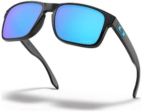 Oakley Black Mirrored Rectangular Sunglass