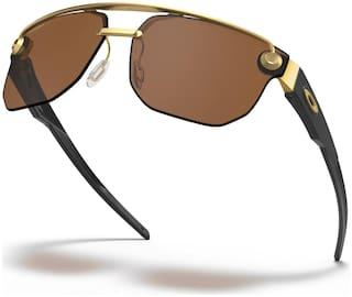 Oakley Unisex UV Protected Brown Rectangular Sunglasses Medium