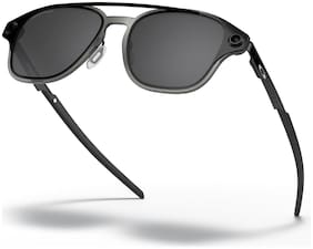 Oakley Black Polarized Rectangular Sunglass