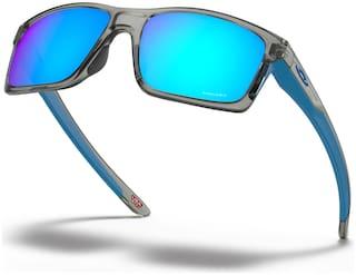 Oakley Unisex Mirrored Mirrored Rectangular Sunglasses Medium