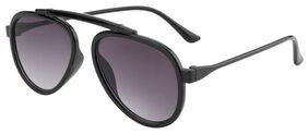 Ochila Grey Gradient Flat Lens SS327 Aviator Sunglasses